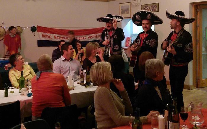 The Beano Burrito Band entertain at the Mexican evening