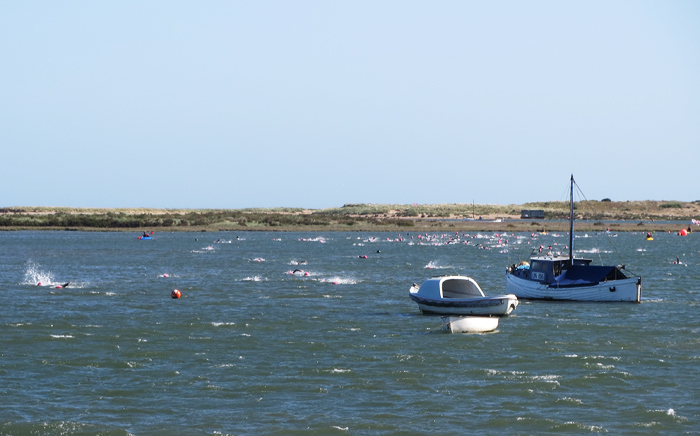 1 mile swim in a choppy harbour channel