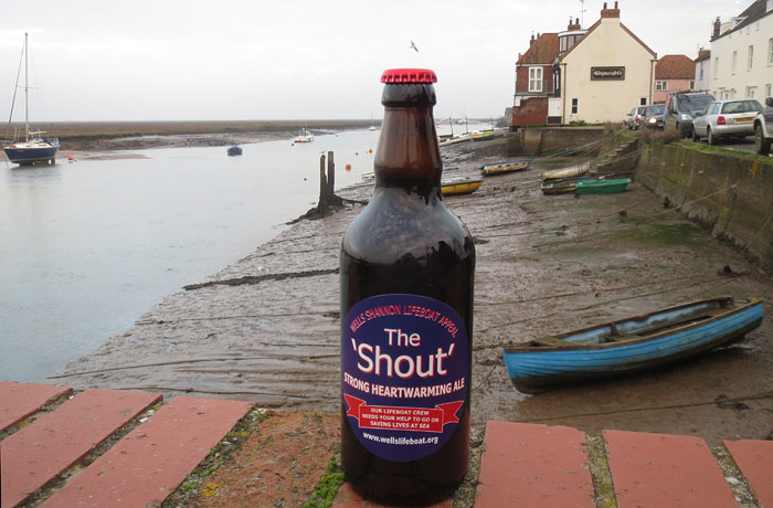 The 'Shout' ale... fund-raising for the new Shannon Lifeboat