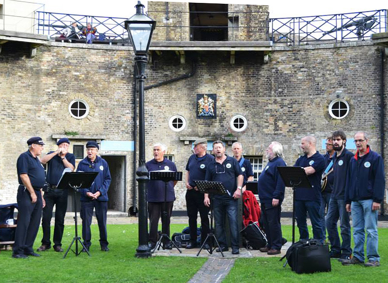 Nelson's Shantymen performing at Harwich