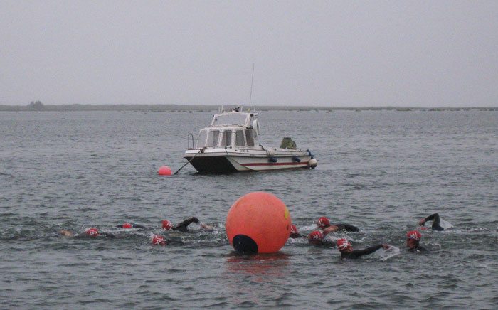 The North Norfolk Triathlon features an open-water swim in Wells quay