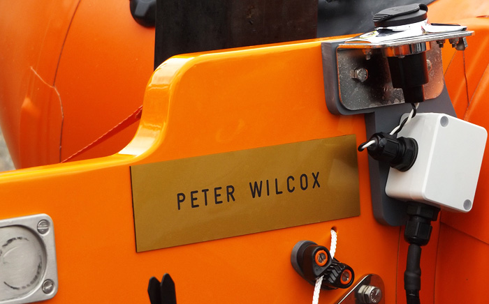 Our new inshore lifeboat D-797 named in memory of Peter Wilcox