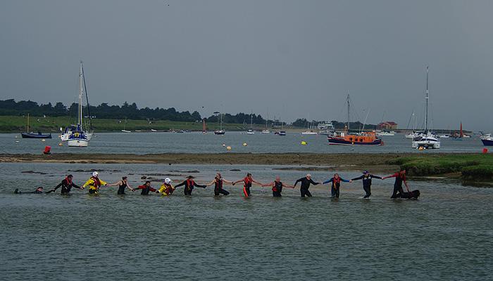 Safely ashore despite having to swim against the ebb, 12/6/16