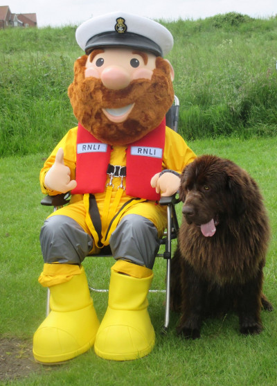 The RNLI's Stormy Stan with Stanley the Newfoundland, 12/6/16