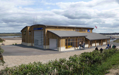 Artist's impression of new boathouse at Wells
