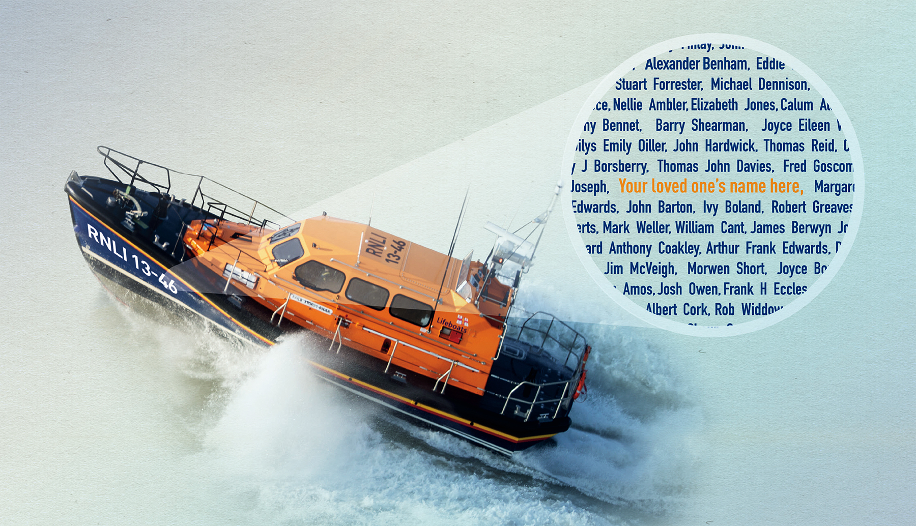 An opportunity for a loved one's name to be carried on the new Wells lifeboat...