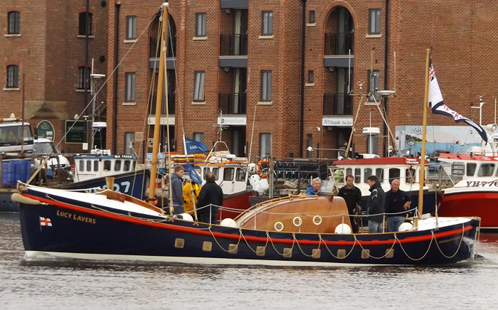 Sea trials at Wells with newly relaunched historic lifeboat Lucy Lavers