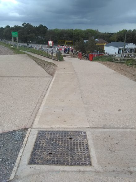 Beach bank path made good at the end of phase 1