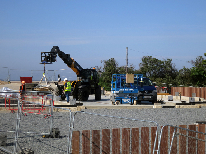 Materials being delivered to site as phase 2 gets underway