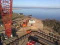 View from crane of site northwards to sea
