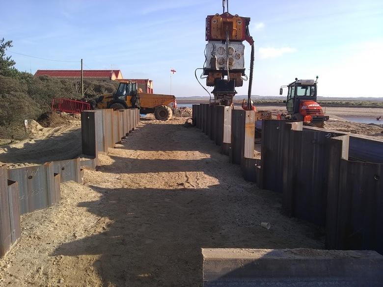 More work on ILB ramp piling