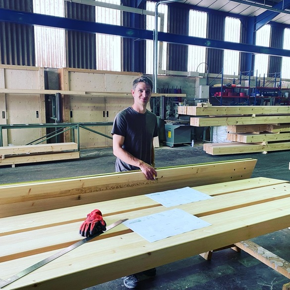 Manufacture of the glulam beams at Buckland Timber in Devon