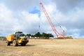 Piling materials arriving on site, 6/10/20