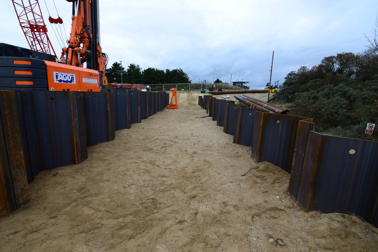 ILB ramp piling nearing completion