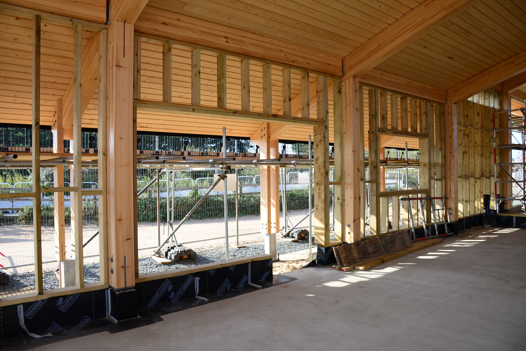 Stud walling in place for the gift shop and engagement area