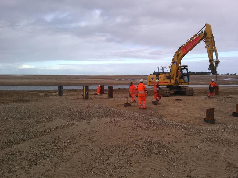 Piling for the ramp
