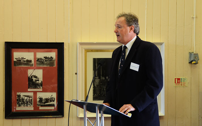 The Earl of Leicester, President of Wells Lifeboat Station, gives a vote of thanks and closes the formal proceedings