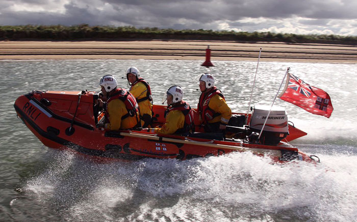 The newly named lifeboat is launched