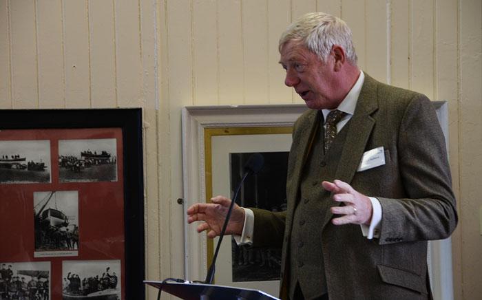 Robert Holland, a friend of Peter Wilcox, reads 'It's a shout'