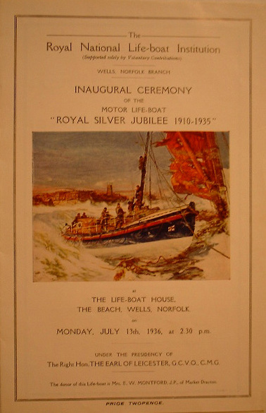 Poster for inaugural ceremony for Royal Silver Jubilee, 1936