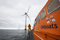 Barrow lifeboat 'Grace Dixon' on exercise to a windfarm