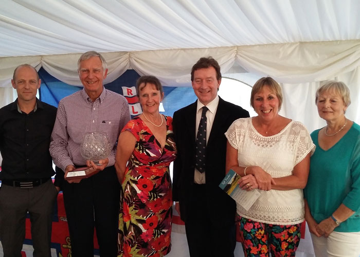 Winners of this year's RNLI Golf Day, with Wells Lifeboat Operations Manager Chris Hardy