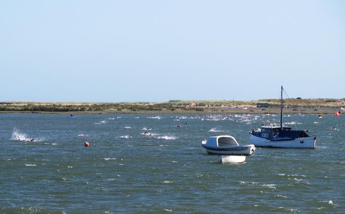 Norfolk Superhero challenge 2015 - 1 mile swim in a choppy harbour channel