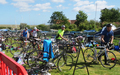 Superhero 2015 - transistion 2 from kayaks to bikes for 45 mile ride
