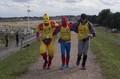 Great Superhero run team arrive in Wells (29/8/15)
