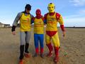 superheroes running over 400 miles from Norfolk to Newcastle for the RNLI...