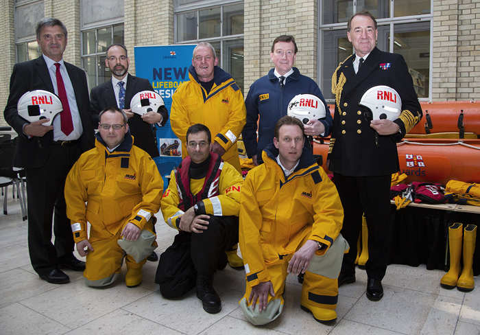 Wells crew and guests in London at the launch of the Civil Service Lifeboat Fund appeal for the Shannon lifeboat