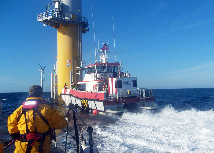 Exercise Sheringham Response - joint exercise with Sheringham Shoal windfarm and Cromer RNLI 10/9