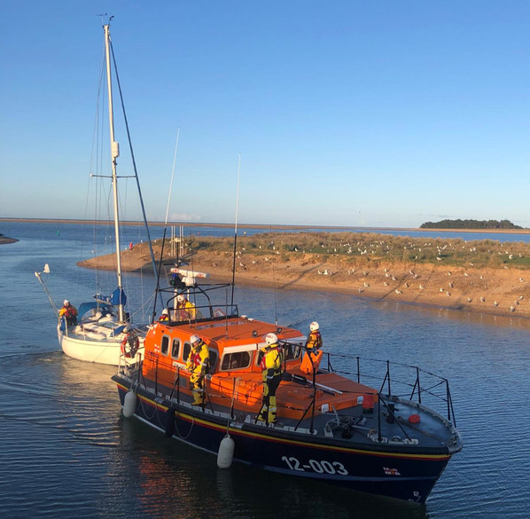 'Colchis' arriving safely back at Wells