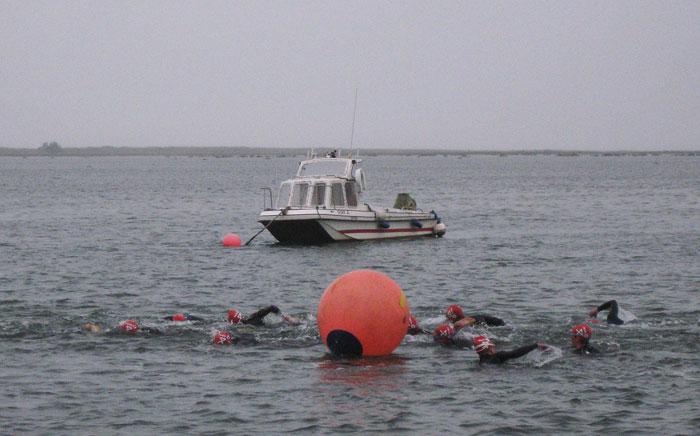 North Norfolk Triathlon swimmers