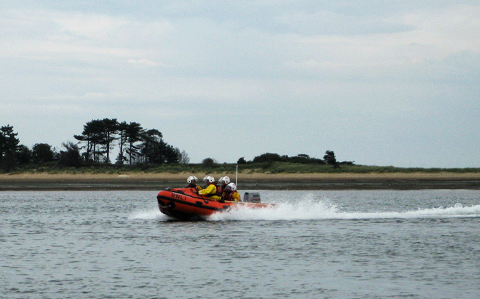 Wells' new inshore lifeboat passes a short test run with flying colours