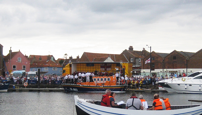 Alongside the quay for the 56th Annual Lifeboat Service