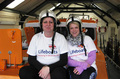 Tracey Mcgivern & Hazey Coker stop off at the boathouse on their fund-raising walk for RNLI (4/6/16)