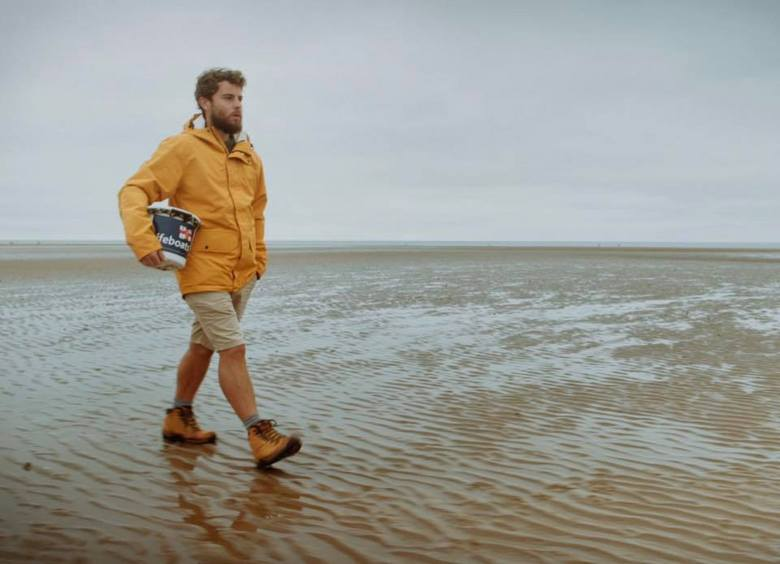 Alex Ellis-Roswell... walking the coast of UK and Ireland fundraising for the RNLI