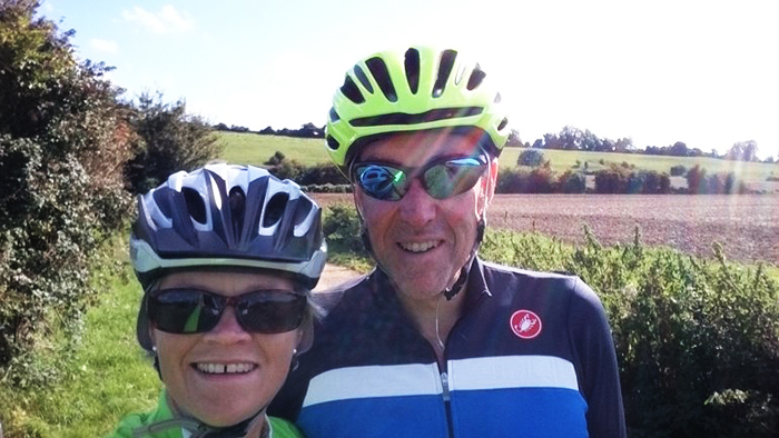 Jon and Claire Davies - cycling from Westminster to Wells for the Lifeboat Fund 150th Anniversary Appeal