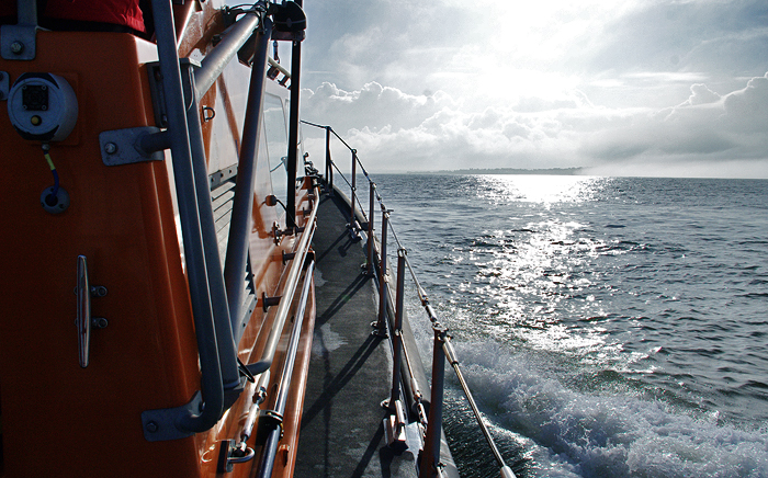 Shannon class lifeboat 13-07 approaching Wells (5/2/17)