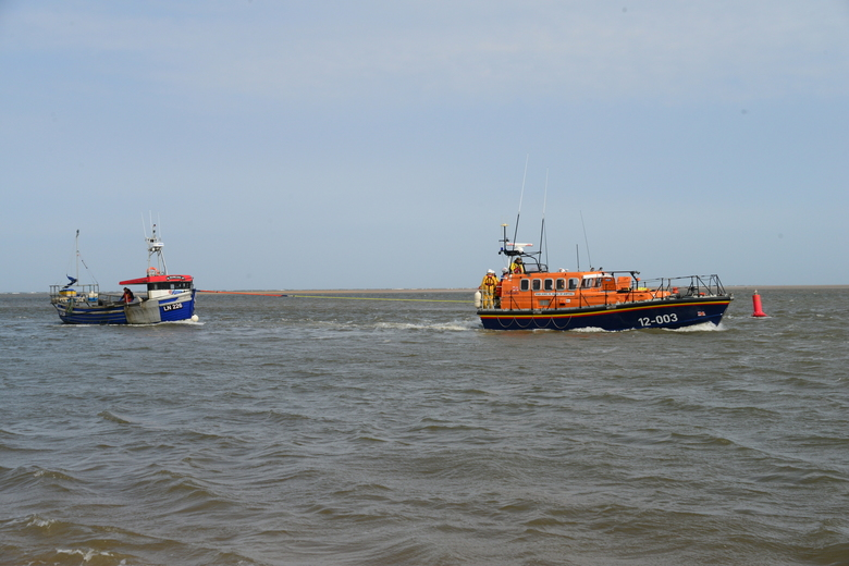 Fair Lass safely back in harbour, 28/4/21