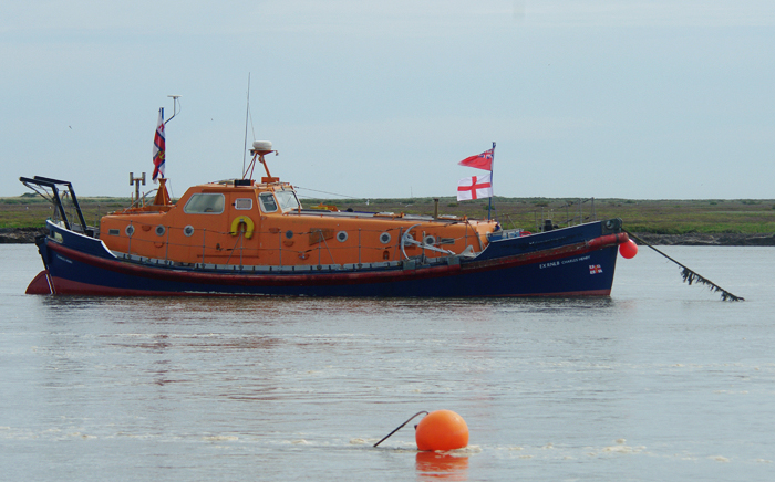 Former Selsey lifeboat 48' Oakley-class 48-12 Charles Henry. now in private ownership, visiting Wells (2/8/15)