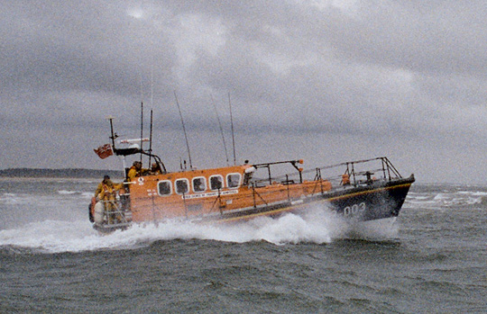 All weather lifeboat on exercise, 2005