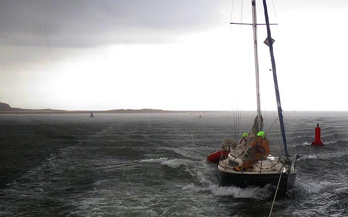 Amanda towed into Wells harbour, 15 June 2016