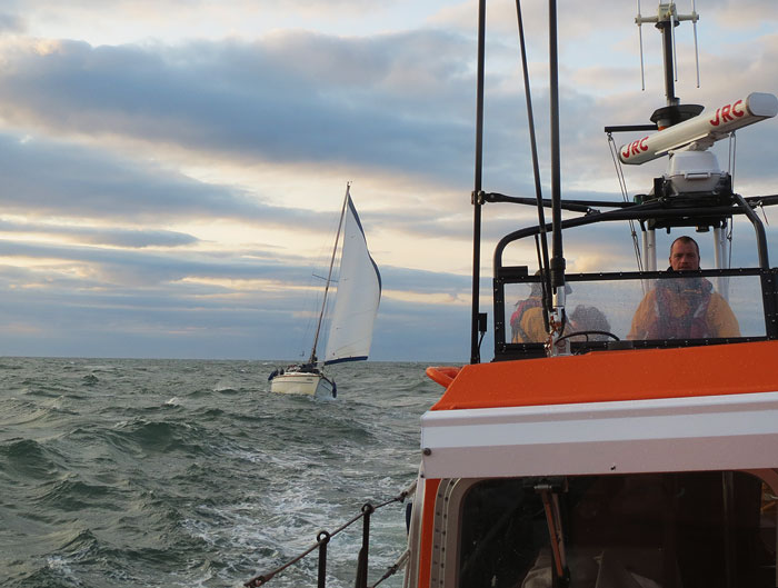 Wells Lifeboat escorting the yacht Amigo, 16 August