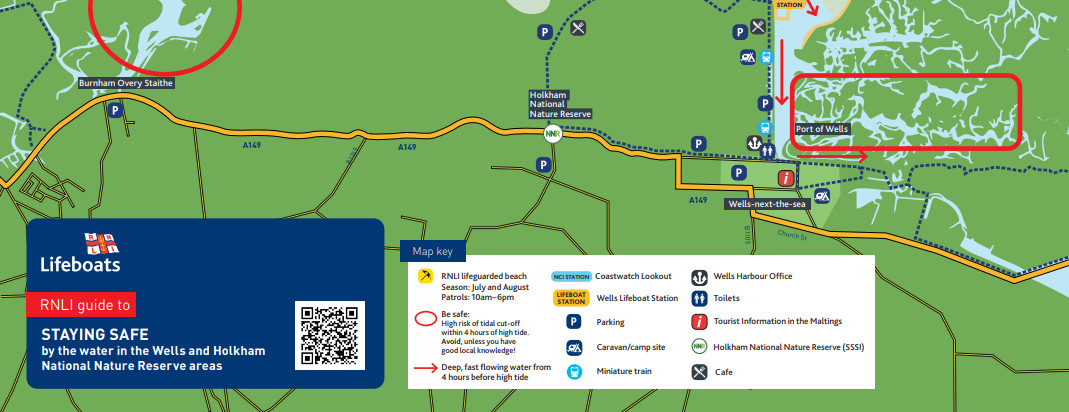 Sea Safety Map for Wells and Holkham