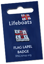 Wells-next-the-Sea RNLI lapel pin bdage