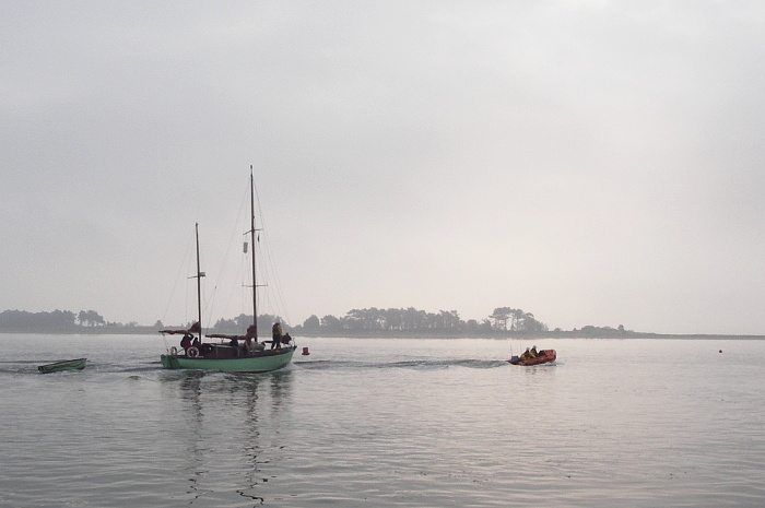 The ILB back in harbour with Peter Duck, 14 August 2015