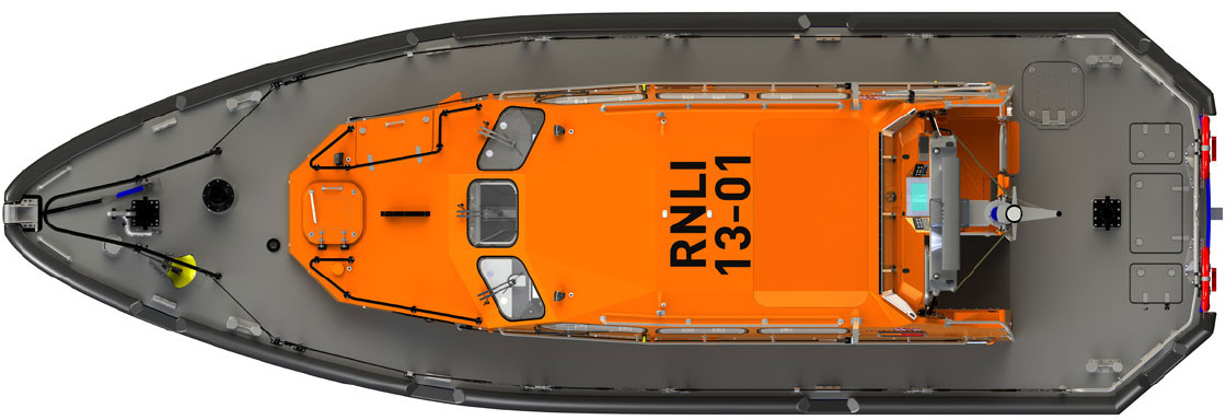 Shannon Lifeboat plan view